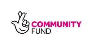 image shows the National Lottery Community Fund logo of crossed fingers