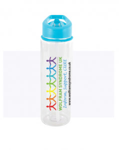 WSUK branded water bottle with sip spout.